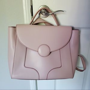 The Jaclyn Bag Blush Pink Convertible Backpack
